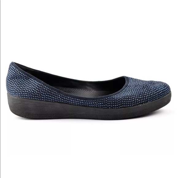 b5ca24ff247 Fitflop Shoes - FitFlop Navy Blue Superballerina Jeweled Flats